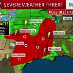 Severe Storms, Flooding In The Forecast Today For Texas, Southern   Texas Forecast Map