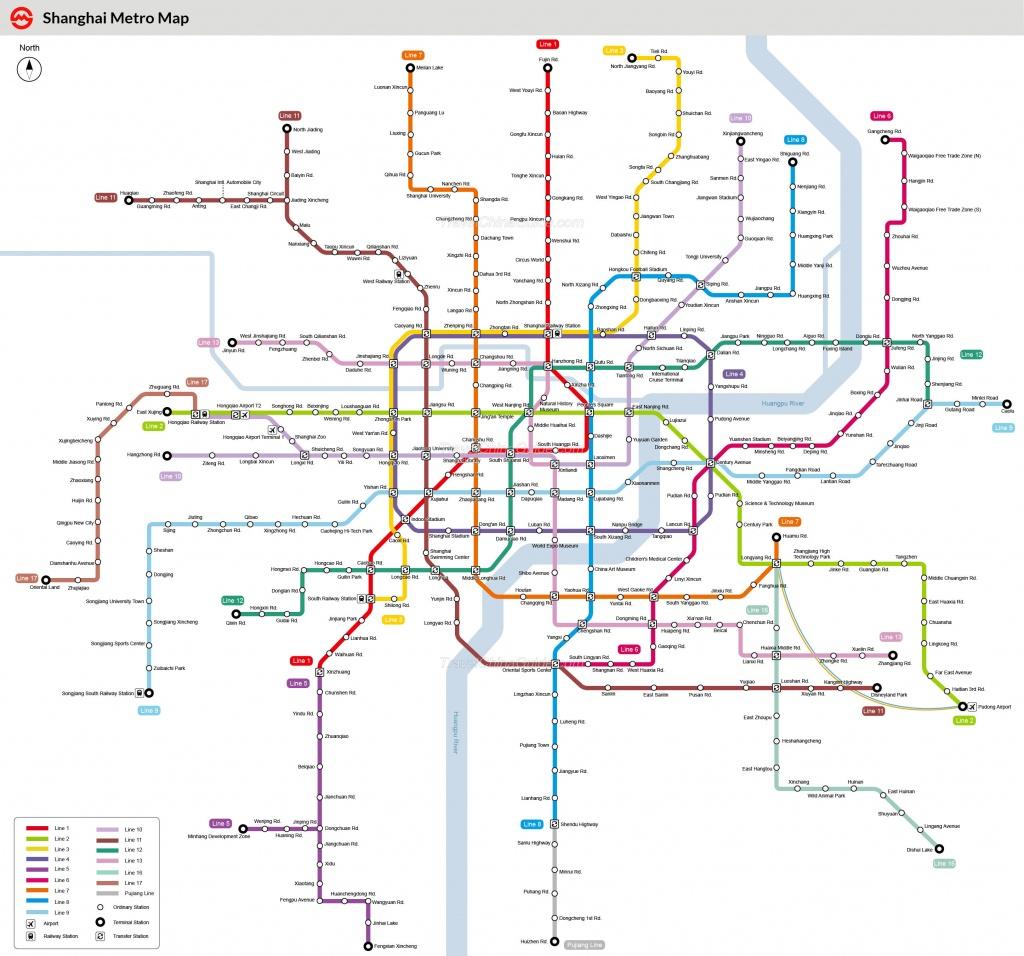 Shanghai Metro Maps, Printable Maps Of Subway, Pdf Download - Printable Route Maps