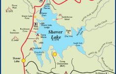 Shaver Lake California Map