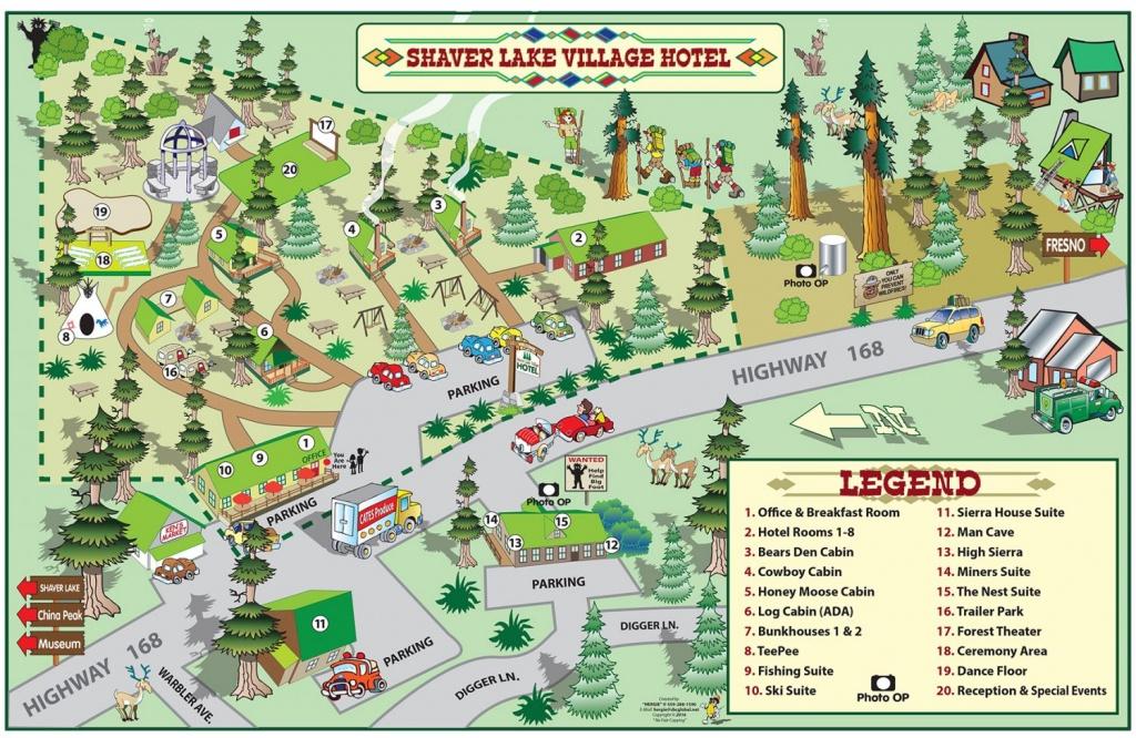 Shaver Lake Village Hotel Property Map - Shaver Lake Village Hotel - Shaver Lake California Map