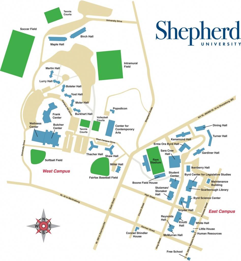 Shepherd University Campus Map | Shepherd University In 2019 - South Texas College Mid Valley Campus Map