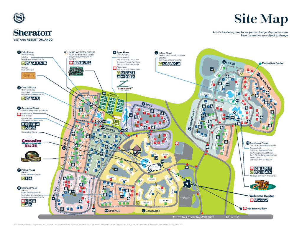 Sheraton Vistana Resort Resort Map | Disney! In 2019 | Orlando - Starwood Hotels Florida Map