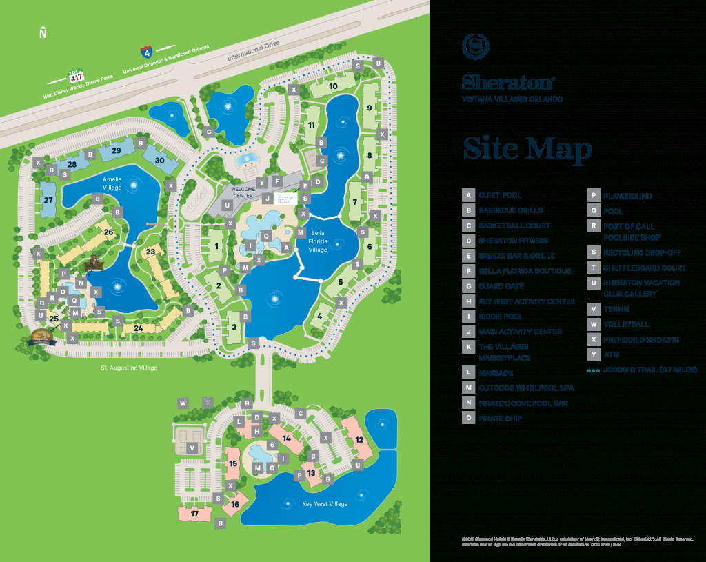 Sheraton Vistana Villages - Map - Starwood Hotels Florida Map