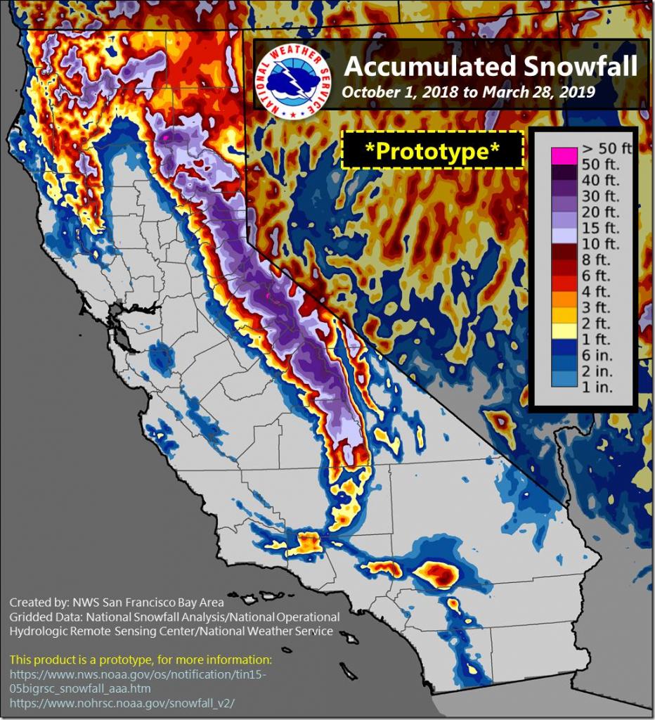 Sierra Nevada Snowpack At 162 Percent Of Normal, California Water - California Snowpack Map