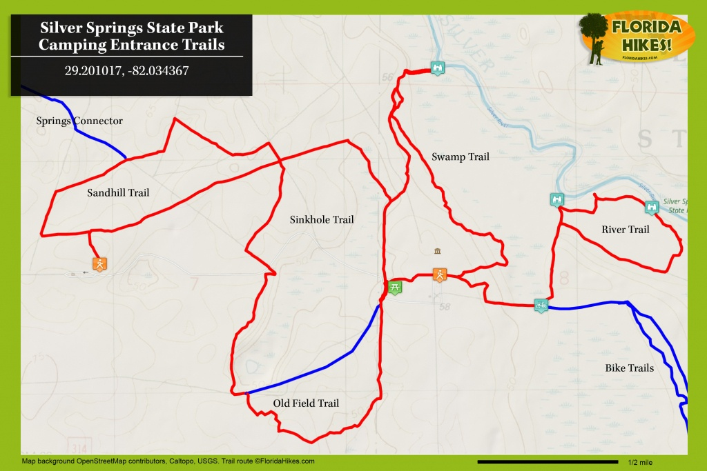 Silver Springs River Trails | Florida Hikes! - Silver Springs Florida Map