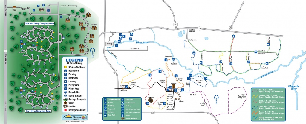 Silver Springs State Park - Know Your Campground - Florida State Parks Rv Camping Map
