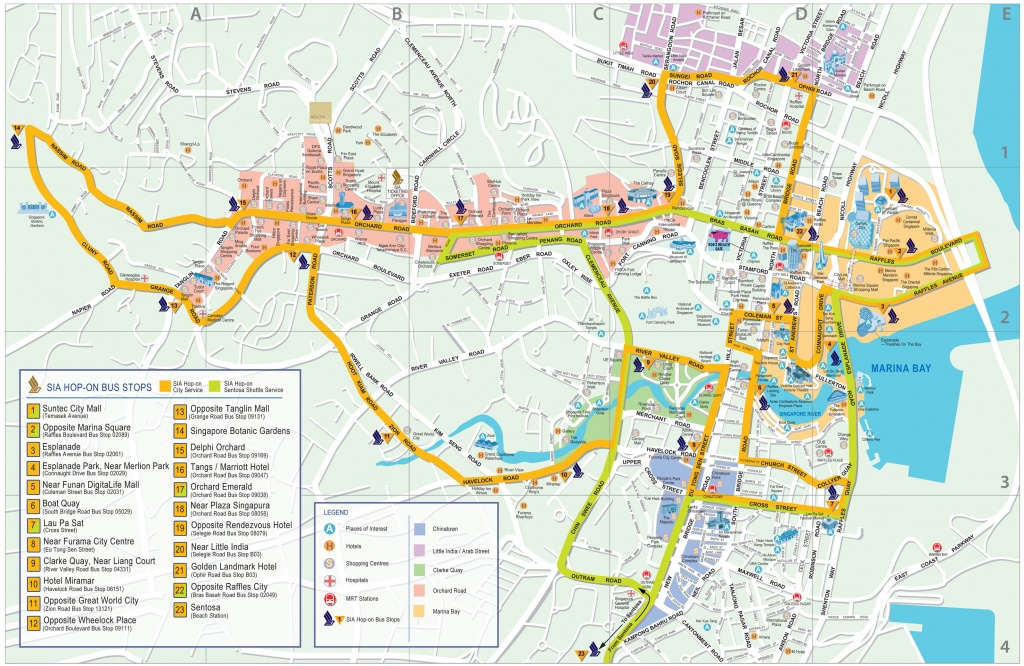 Singapore Map - Detailed City And Metro Maps Of Singapore For - Singapore City Map Printable