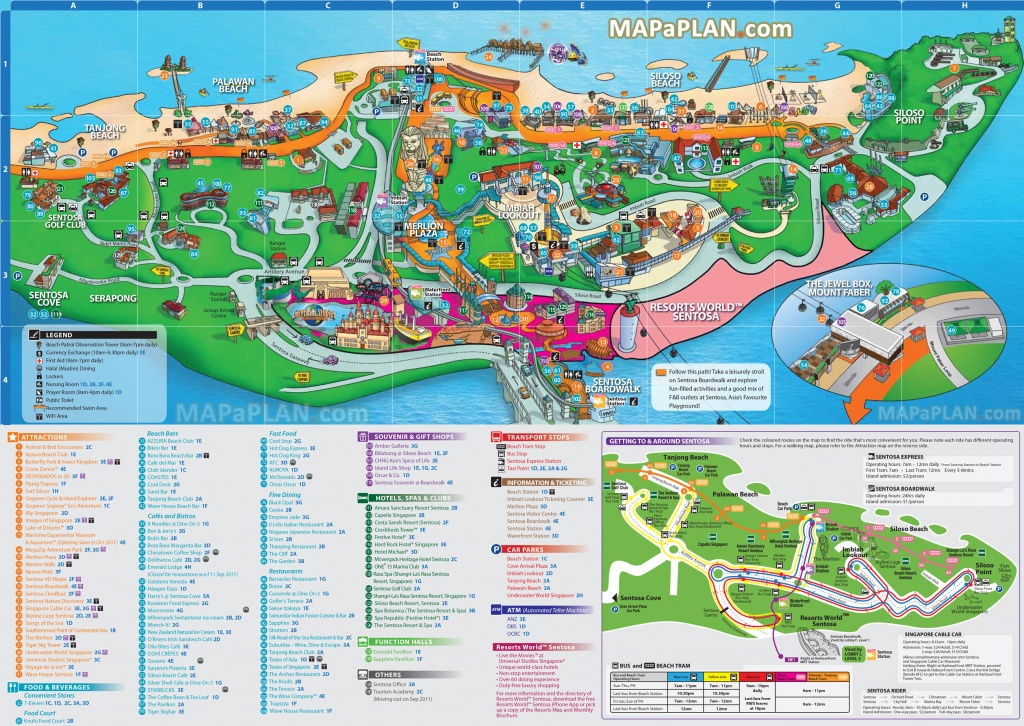 Singapore Maps - Top Tourist Attractions - Free, Printable City - Singapore City Map Printable