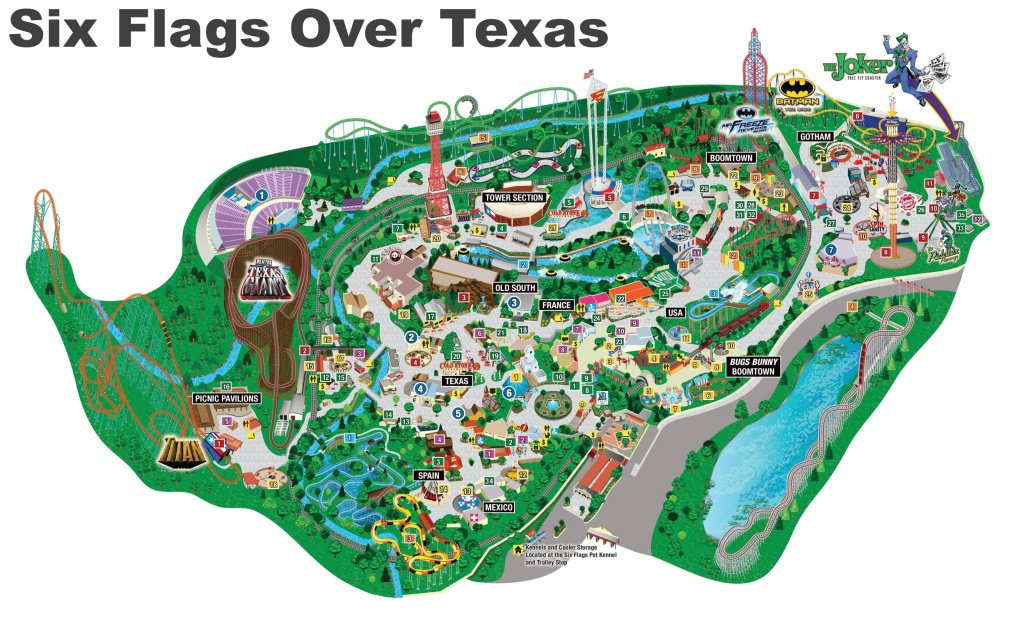 Six Flags Over Texas Map - Printable Six Flags Over Georgia Map