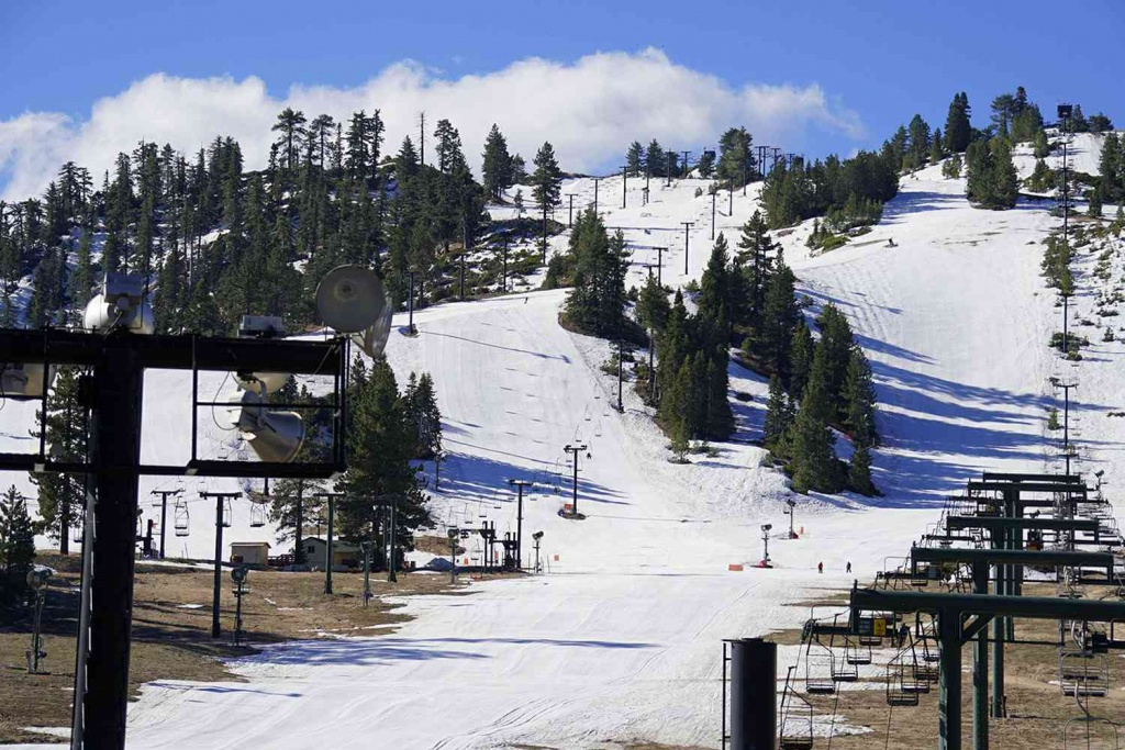Skiing And Snowboarding In Southern California - Southern California Ski Resorts Map