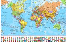 Small Printable World Map | Europe Centred Maps International – Small World Map Printable