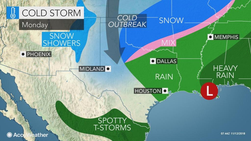 Snow Whitens Oklahoma, Texas As Coldest Air So Far This Season Invades - Texas Weather Radar Maps Motion