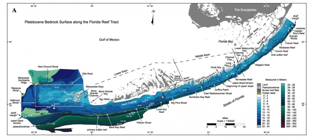 Sofia - Regional Quaternary Submarine Geomorphology - Methods - Florida Keys Topographic Map