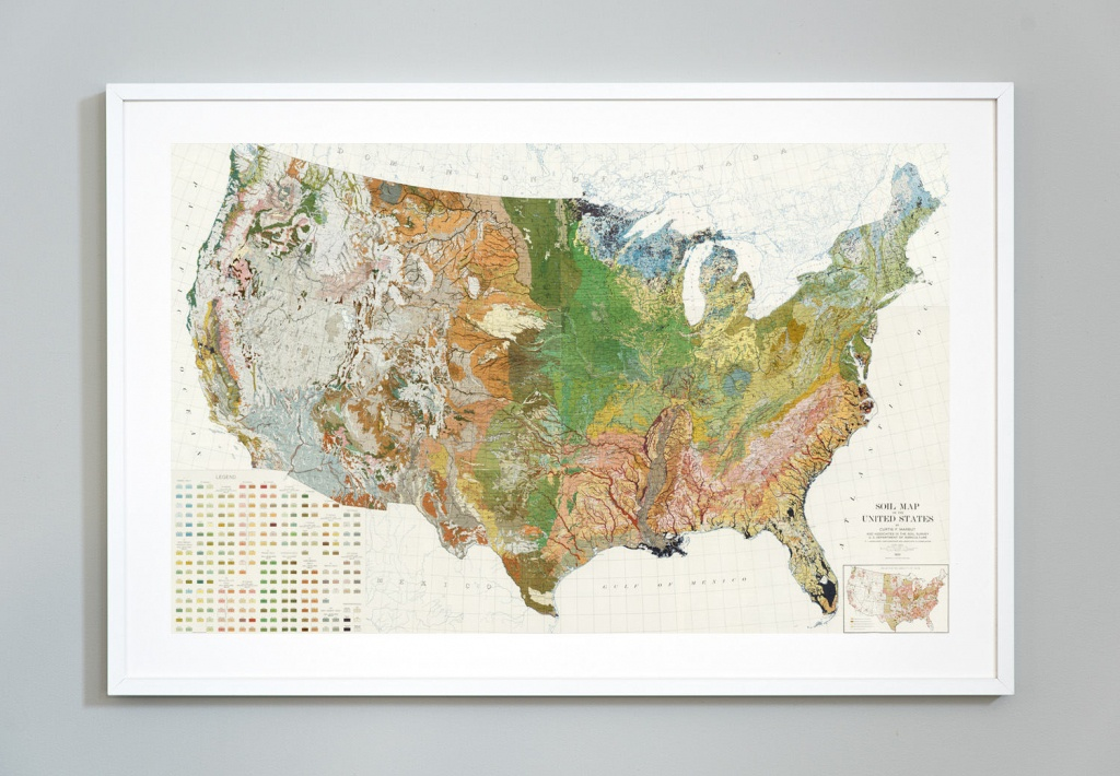 Soil Map Of The United States Atlas Of American Agriculture | Etsy - United States Regions Map Printable