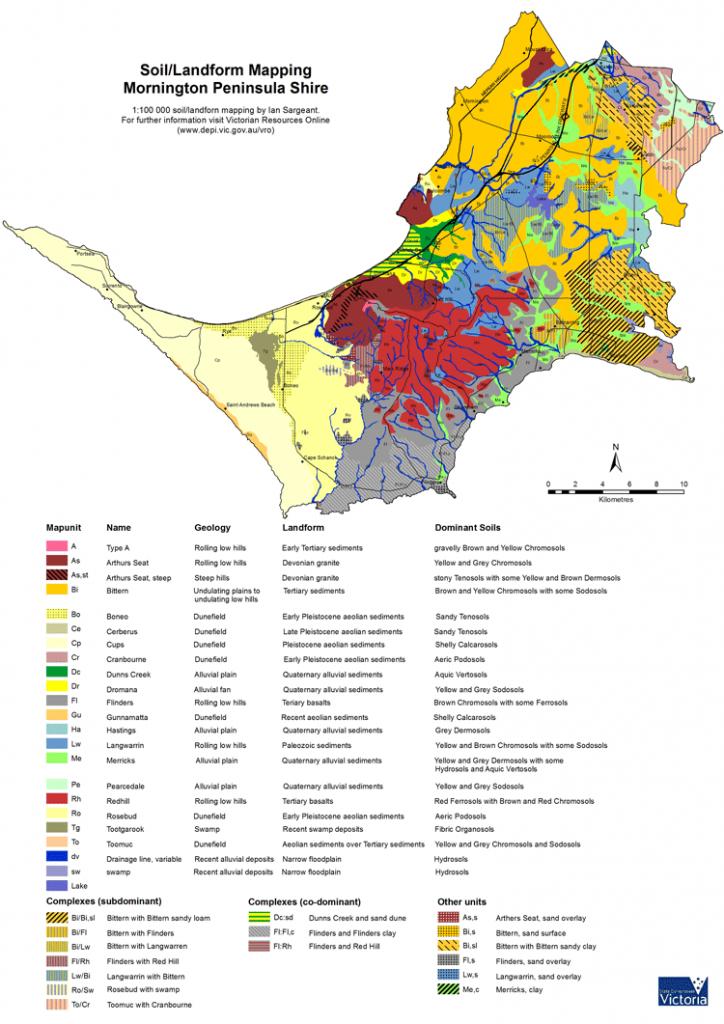 Soils/landforms Of The Mornington Peninsula | Vro | Agriculture Victoria - Florida Soil Types Map