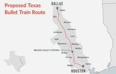 High Speed Rail Texas Route Map