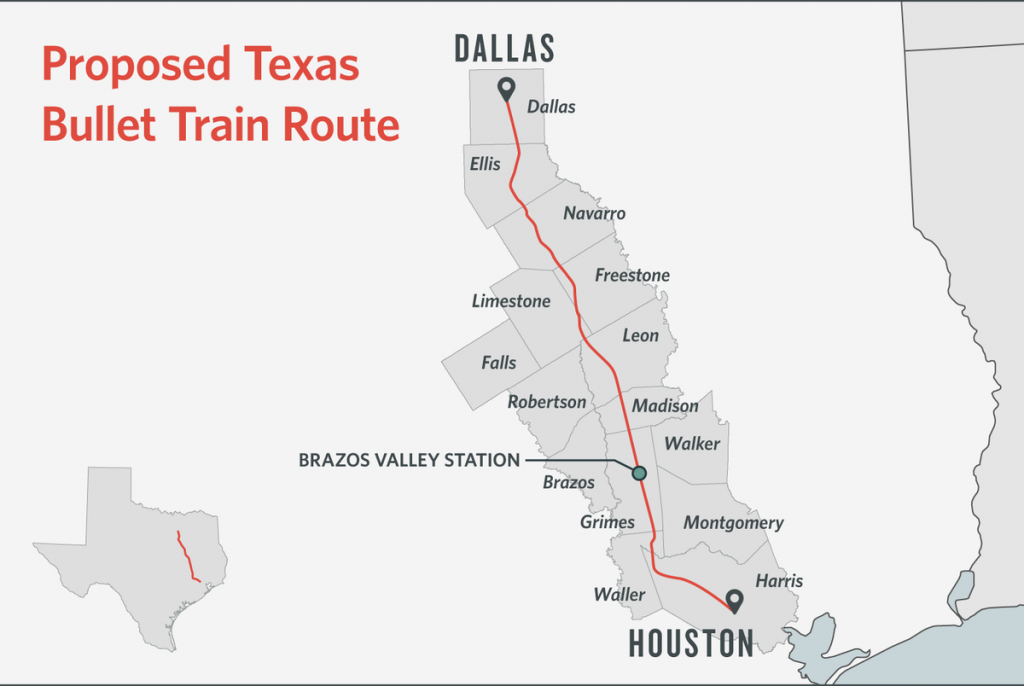 Some Texans Dodge Bullet Train, Others Are Square In Its Path | The - Texas State Railroad Route Map