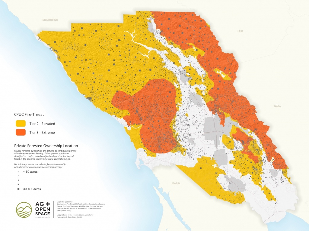 Sonoma County Forest Conservation Working Group | Resources - California Department Of Forestry And Fire Protection Map