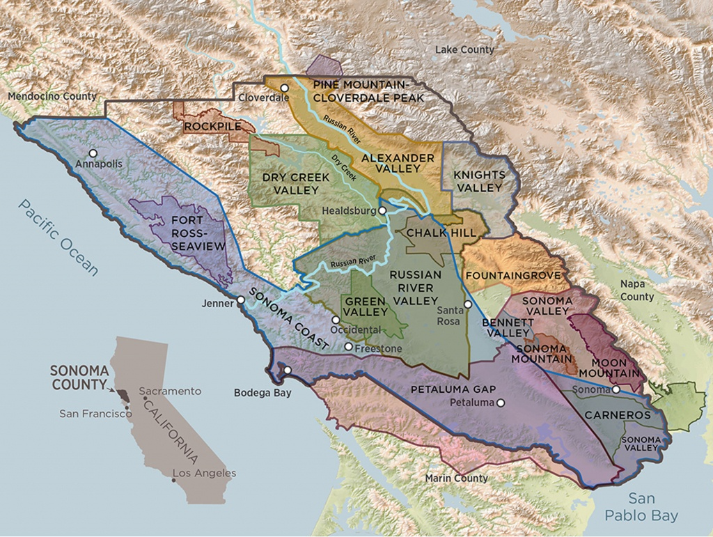 Sonoma County Terroir | A Guide To Sonoma County's 17 Avas - Sonoma Wine Country Map California
