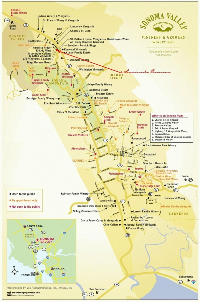 Sonoma Valley Wineries | N A P A | S O N O M A In 2019 | Sonoma - Sonoma Wineries Map Printable
