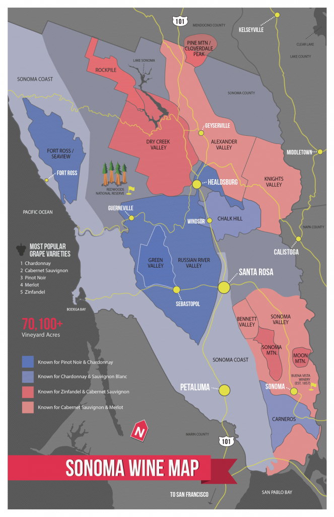 Sonoma Wine Map (Poster   Cheese & Wine   Wine Folly, Wine, Sonoma - California Wine Map Poster