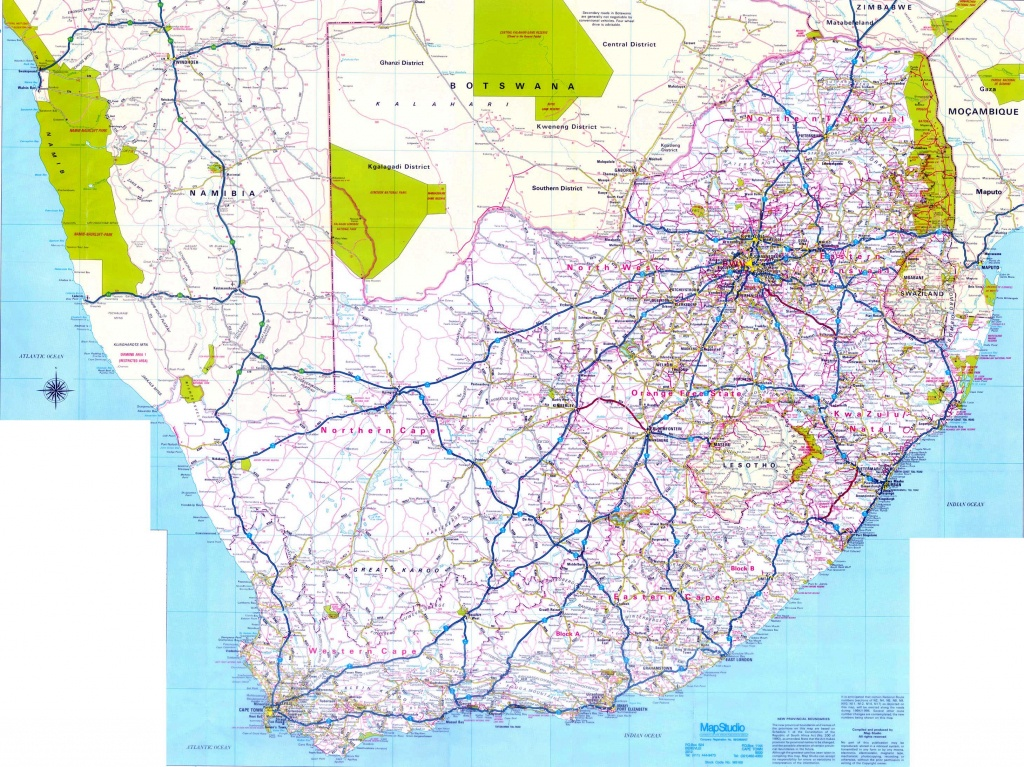 South Africa Maps   Printable Maps Of South Africa For Download - Printable Road Maps