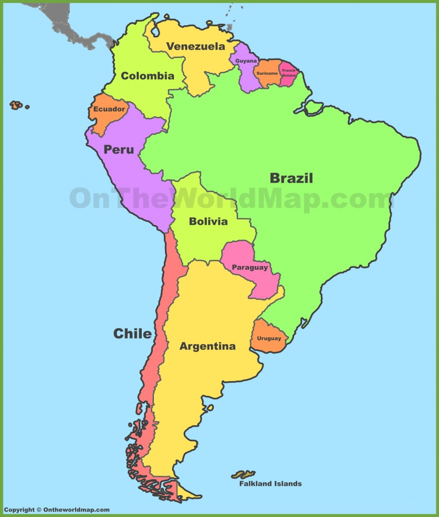 South America Maps   Maps Of South America - Ontheworldmap - Printable Map Of Central And South America