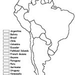 South America Unit W/ Free Printables | Homeschooling | Spanish   Printable Map Of South America With Countries
