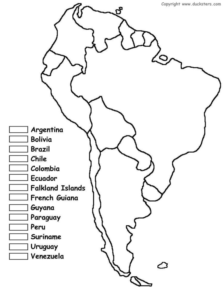 South America Unit W/ Free Printables | Homeschooling | Spanish - Printable Map Of South America With Countries