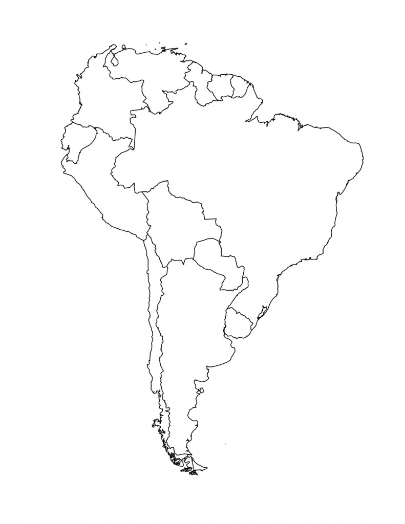 South America Unlabeled Map - Eymir.mouldings.co - Blank Map Of Latin America Printable