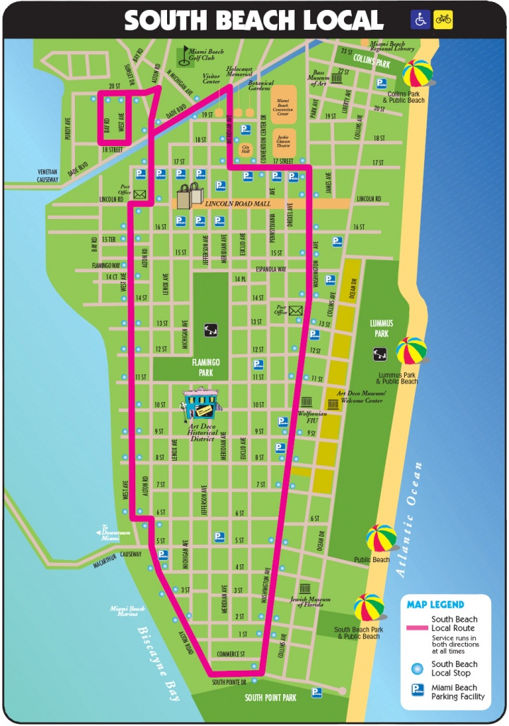 South Beach Tourist Map - Miami Beach Florida • Mappery - Map Of Miami Beach Florida
