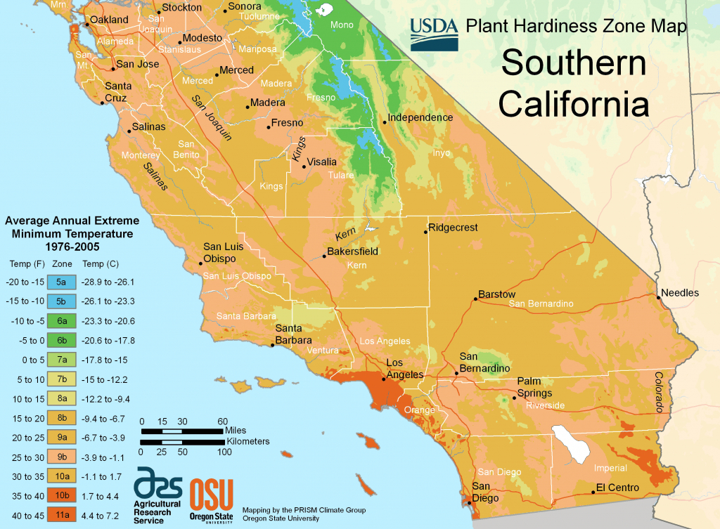 South California Plant Hardiness Zone Map • Mapsof - California Hardiness Zone Map