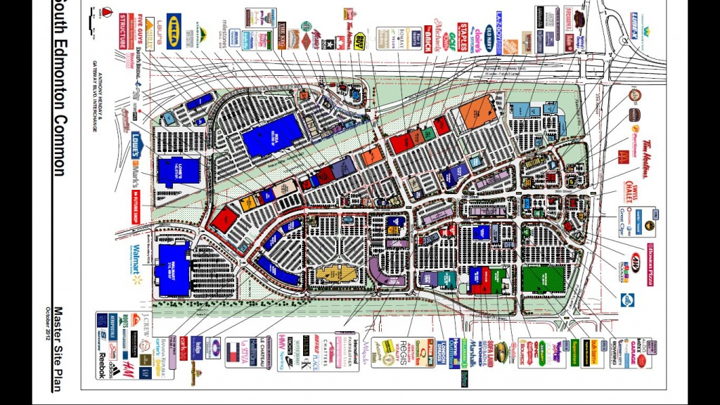 South Edmonton Common In Edmonton, Alberta - 169 Stores, Hours - Printable West Edmonton Mall Map