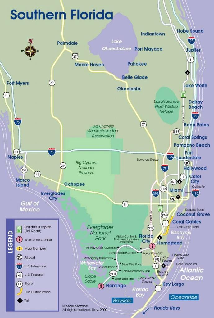 South Florida Map | Travel Maps | Florida Keys Map, South Florida - South Beach Florida Map
