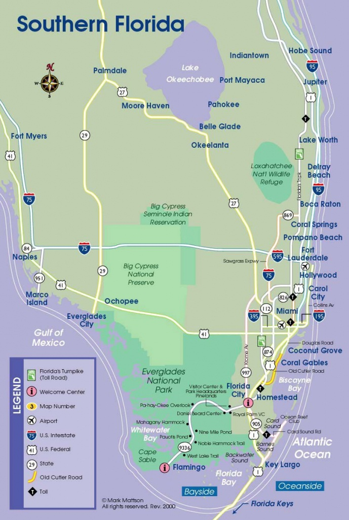 South Florida Map | Travel Maps | South Florida Map, Florida - Pompano Florida Map