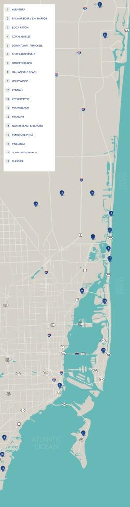 South Florida Neighborhoods   Map Of South Florida - Sunny Isles Florida Map