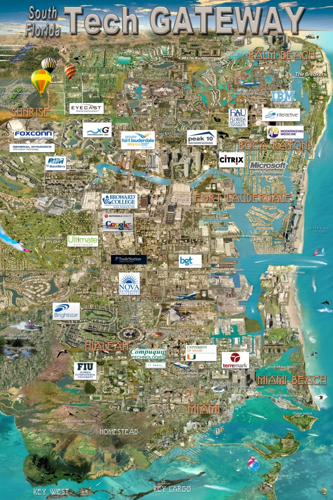 South Florida Tech Gateway Map | Silicon Maps - Florida Tech Map
