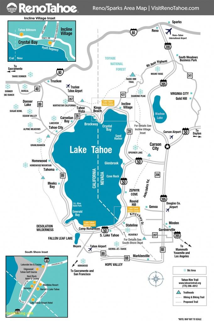 South Lake Tahoe Ski Resorts Northern California Ski Resorts Map - California Ski Resorts Map