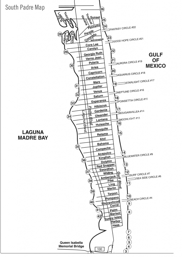South Padre Island Street Map - South Padre Island Texas • Mappery - Padre Island Texas Map