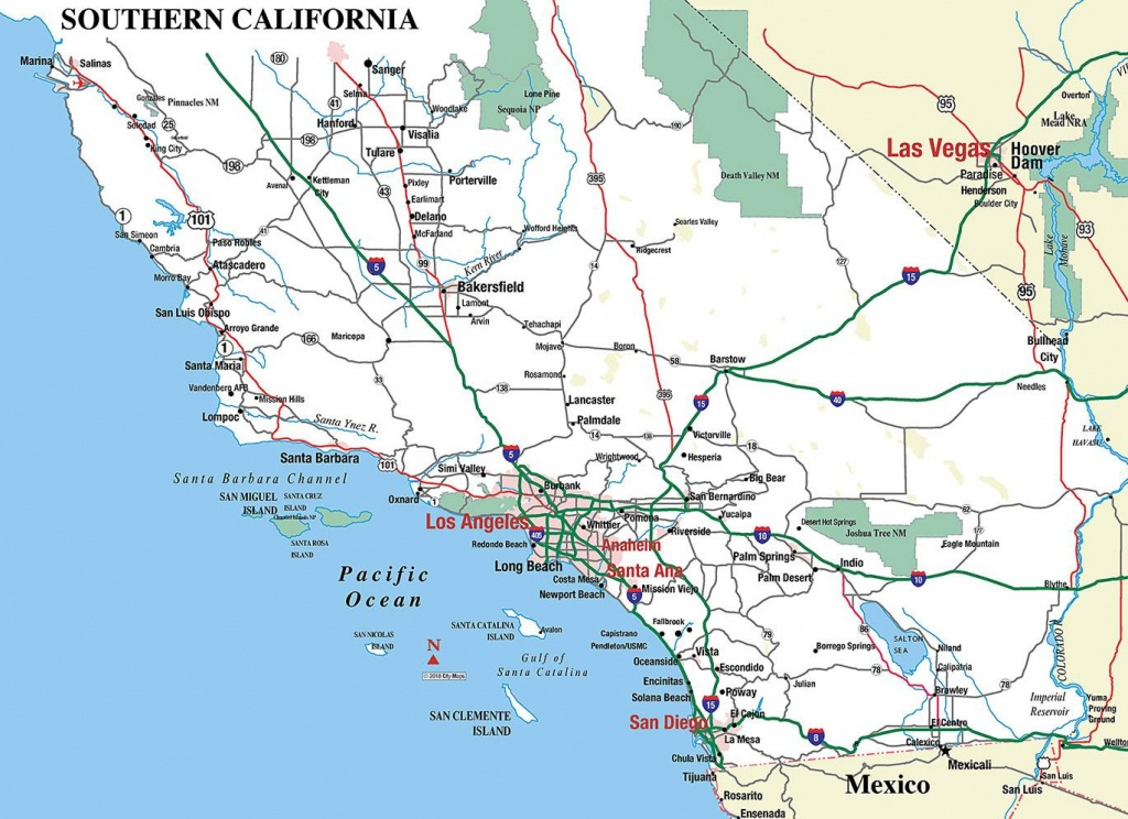 Southern California - Aaccessmaps - Map Of Southeastern California