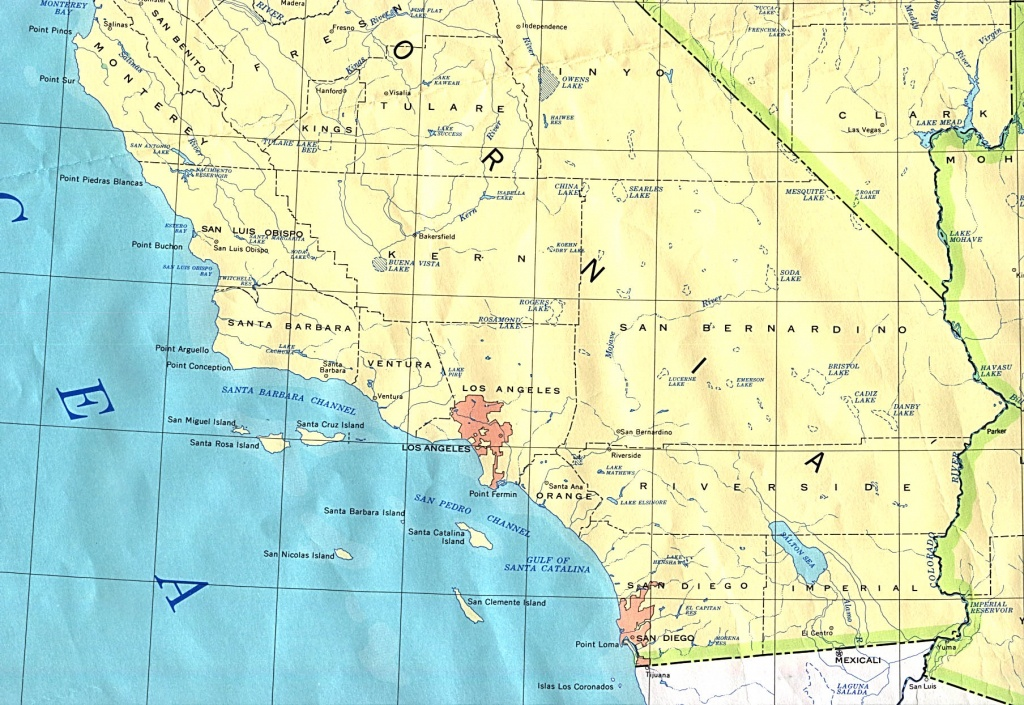Southern California Base Map - Detailed Map Of Southern California