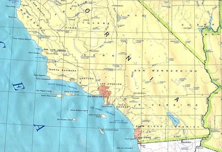 Printable Map Of Southern California