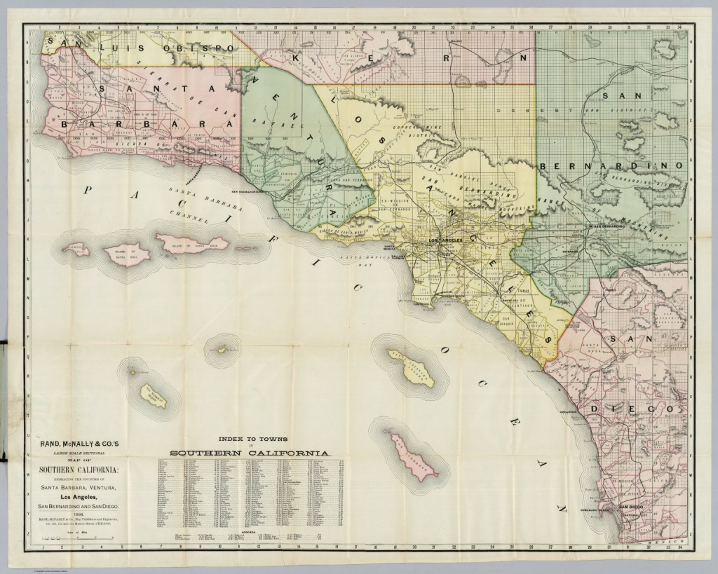 Southern California - David Rumsey Historical Map Collection - Historical Maps Of Southern California