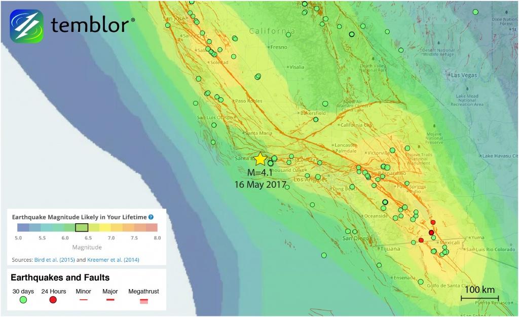 Southern-California-Earthquake-Map-Earthquake-Forecast – Temblor - California Earthquake Map