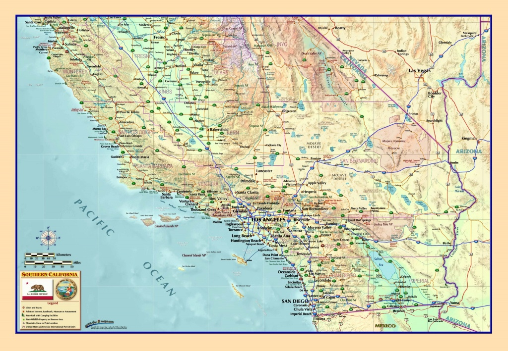 Southern California Wall Map - The Map Shop - Picture Of California Map