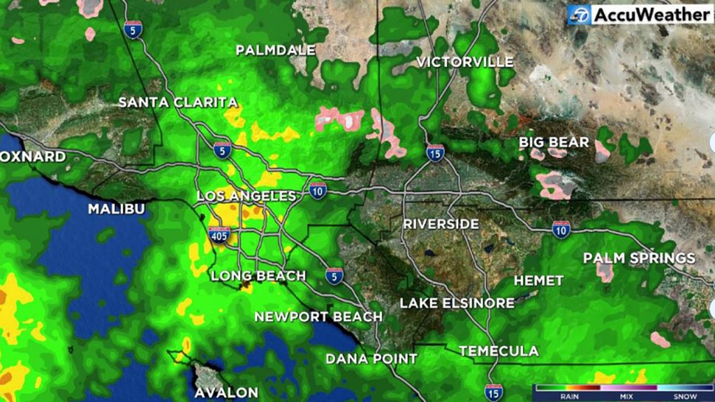 Southern California Weather Forecast - Los Angeles, Orange County - Satellite Weather Map California