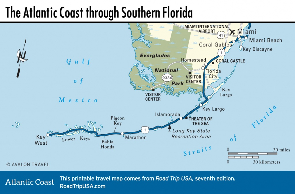 Southern Fl Map And Travel Information | Download Free Southern Fl Map - Map Of Southern Florida Gulf Side