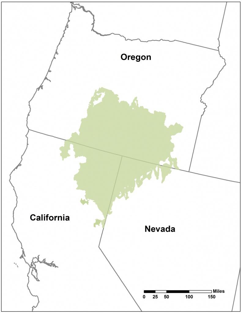 Southern Oregon Northeastern California Maps   Intermountain West - Map Of Oregon And California
