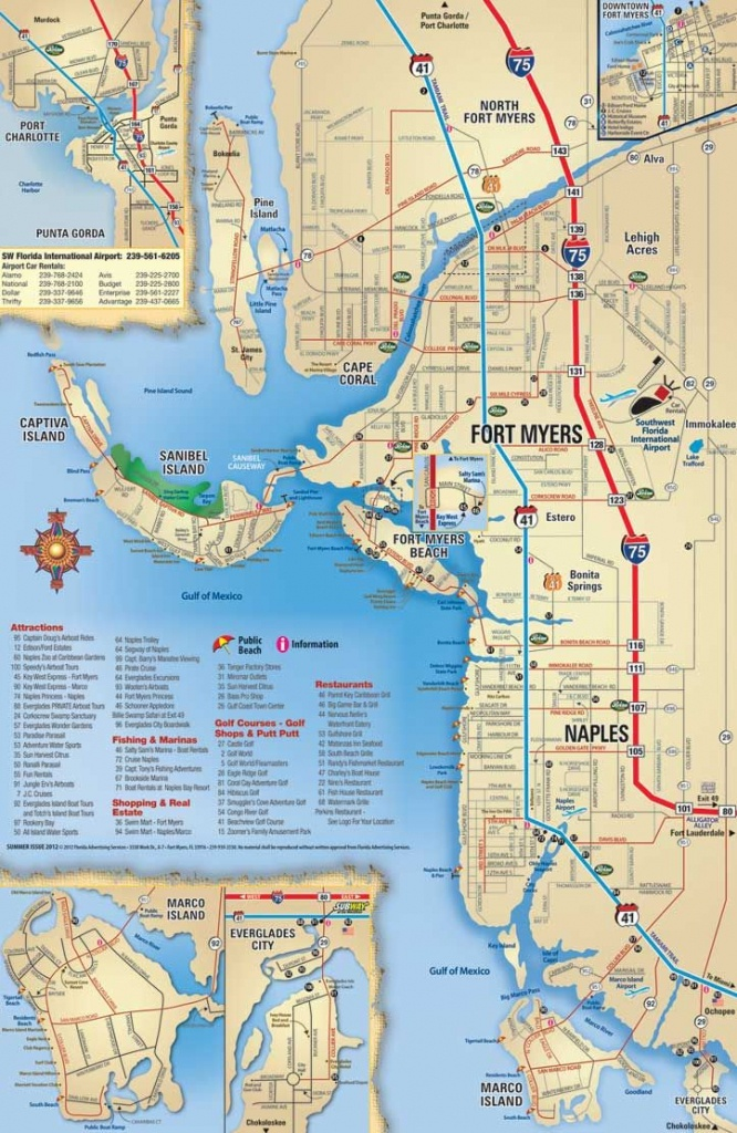 Southwest Florida Map, Attractions And Things To Do, Coupons - Map Of Sw Florida Beaches