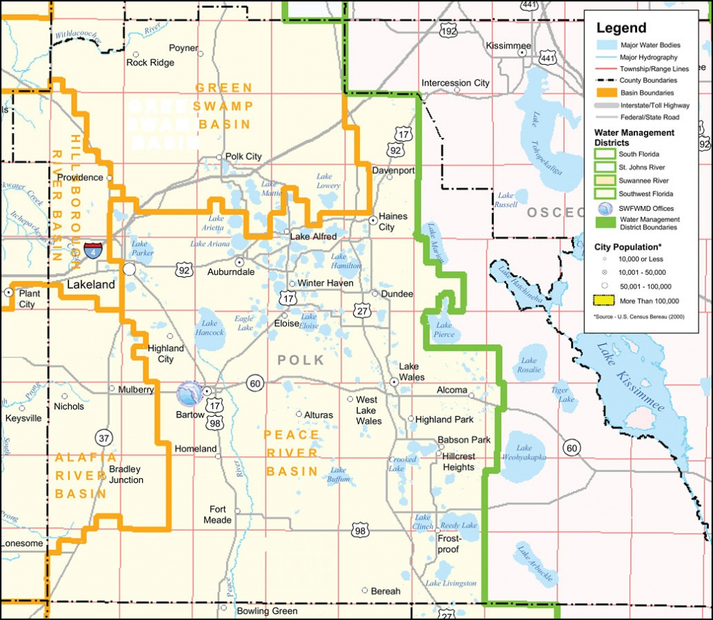 Southwest Florida Water Management District- Polk County, September - Dundee Florida Map